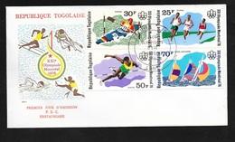 Togo FDC Lettre Illustrée 1er Jour Lomé  Le 15/06/1976 N°867 à 869 Et PA N°280 Jeux Olympiques De Montréal   TB - Summer 1976: Montreal