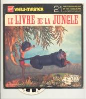 """Pochette VIEW - MASTER """" Le Livre De La Jungle """" Complet Avec Ses 3 Disques Photos Stéréoscopiques (hh) - Visionneuses Stéréoscopiques"""