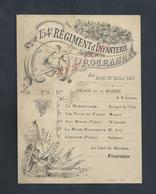 MILITARIA ANCIEN PROGRAMME MILITAIRE DU 154e Rg INFANTERIE PLACE DE LA MAIRIE 1911 : - Programs
