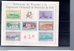 PANAMA BLOC 5** SUR L EXPO UNIVERSELLE DE BRUXELLES - Panama