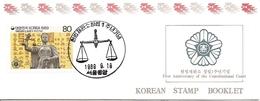 KOREA SOUTH, 1989, Booklet Philatelic Center 13, Constitutional Court - Corea Del Sud