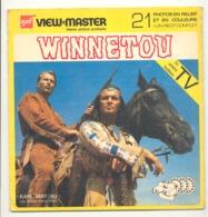 "Pochette VIEW - MASTER "" Winnetou "" Complet Avec Ses 3 Disques Photos Stéréoscopiques (hh) - Stereoscopes - Side-by-side Viewers"