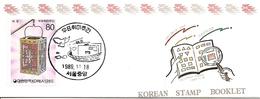 KOREA SOUTH, 1989, Booklet Philatelic Center 20, Philatelic Week - Corea Del Sud