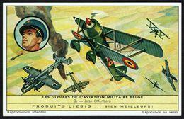LIEBIG - FR -  1 Chromo N° 3 - S 1777 Série/Reeks - GLOIRES DE L'AVIATION MILITAIRE BELGE: Jean OFFENBERG. - Liebig