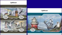 SIERRA LEONE 2018 MNH** Birds Vögel Oiseaux Lighthouses M/S+S/S - OFFICIAL ISSUE - DH1808 - Vögel
