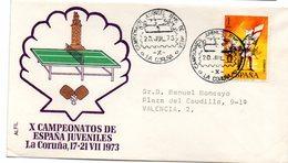 Carta  Con Matasellos Commemorativo De Campeonatos De España Juveniles De 1973 - 1971-80 Storia Postale