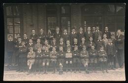 GENT ZELDZAME FOTOKAART - GESTICHT J.B. DE LA SALLE - HOLSTRAAT GENT  SCHOOLJAAR 1921 _ 1922 - 2 SCANS - Gent