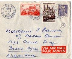 TB 2315 - LAC - Lettre Par Avion De PARIS Pour BUENOS - AIRES ( Argentine ) - Poste Aérienne