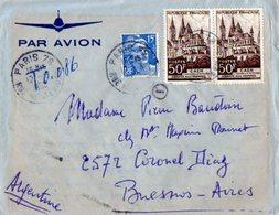 TB 2316 - LAC - Lettre Par Avion De PARIS Pour BUENOS - AIRES ( Argentine ) - Poste Aérienne