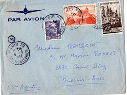 TB 2318 - LAC - Lettre Par Avion De PARIS Pour BUENOS - AIRES ( Argentine ) - Poste Aérienne