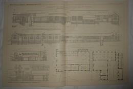 Plan De La Beurrerie De L'Hermitage Mordeilles En Ile Et Vilaine. 1912 - Public Works