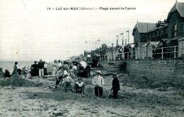 N°662 A -cpa Luc Sur Mer -plage Devant Le Casino- - Luc Sur Mer