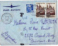 TB 2320 - LAC - Lettre Par Avion De PARIS Pour BUENOS - AIRES ( Argentine ) - Poste Aérienne