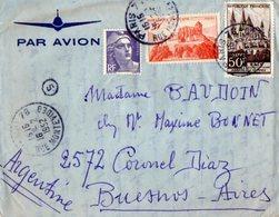 TB 2323 - LAC - Lettre Par Avion De PARIS Pour BUENOS - AIRES ( Argentine ) - Poste Aérienne