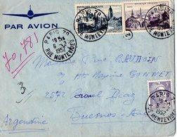 TB 2325 - LAC - Lettre Par Avion De PARIS Pour BUENOS - AIRES ( Argentine ) - Poste Aérienne
