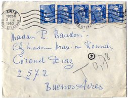 TB 2326 - LAC - Lettre Par Avion De PARIS Pour BUENOS - AIRES ( Argentine ) - Airmail
