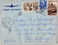 TB 2327 - LAC - Lettre Par Avion De PARIS Pour RIO DE JANEIRO ( Brésil ) - Poste Aérienne