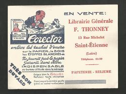 BUVARD CORRECTOR LIBRAIRIE F. THONNEY à SAINT ETIENNE - Blotters