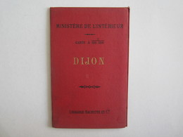 Dijon Carte Librairie Hachette Ministère De L'intérieur D'après Becherel - Roadmaps
