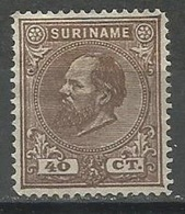 Surinam,King Wilhelm III 40c 1889.,MH - Surinam