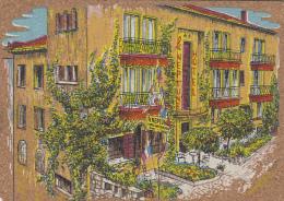 """Matériaux - Carte En Liège - Peinture Sur Liège - Le Lavandou 83 - Hôtel """"le Neptune"""" - Ansichtskarten"""