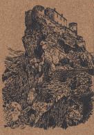 Matériaux - Carte En Liège - Corte Corse - Rocher Et Citadelle - Ansichtskarten