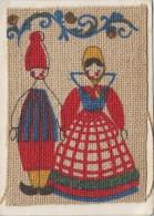 Matériaux - Carte 2 Volets - Costumes Couple Du Danemark - Peinture Sur Ficelle Tissée - Ansichtskarten