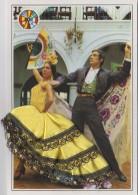 Matériaux - Carte Brodée Et Tissu - Couple Espagne - Andalousie - Eventail - Ansichtskarten