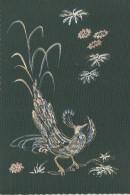 Matériaux -  Peinture Sur Carte Tissée - Oiseau  - EditionColin Massé Perpignan - Ansichtskarten