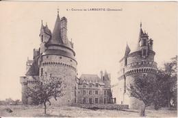 CPA - 4. Château De LAMBERTIE (Dordogne) - Altri Comuni