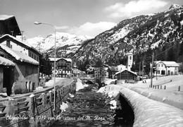 Cartolina Champoluc Panorama Parziale Paese Monte Rosa 1966 - Italy