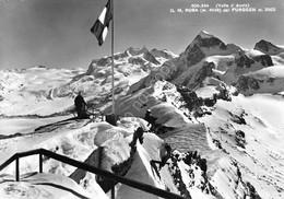 Cartolina Valle D' Aosta Monte Rosa Da Furggen Animata - Unclassified