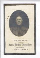 DP 6625 - MARIA DEBOSSCHERE - ANSEGHEM 1851 + OOTEGHEM 1921 - Devotion Images