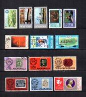 Nicaragua  1975-76  .-  Y&T Nº  849-853/854-857/858-877-882-884-887/891-893     Aéreos - Nicaragua