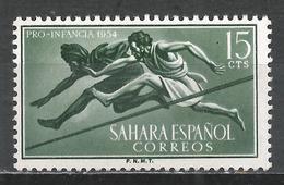 Spanish Sahara 1954. Scott #72 (M) Hurdlers * - Sahara Espagnol