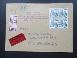 Berlin Freimarken BuS Nr. 590 Als 4er Block. Portogerecht! Wertbrief / Eilzustellung / Eigenhändig! Bahnpost - [5] Berlijn