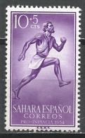 Spanish Sahara 1954. Scott #B30 (M) Runner * - Sahara Espagnol
