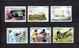 Nicaragua  1982  .-  Y&T Nº  978-984/985-986/988     Aéreos - Nicaragua