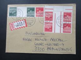 Berlin / BRD Freimarken Brandenburger Tor Zusammendrucke Aus MHB Einheit. MiF. Portogerecht. Einschreiben - [5] Berlijn