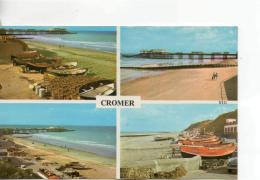 Postcard - Cromer Four Views - Posted 4th July 1972 Very Good - Postcards