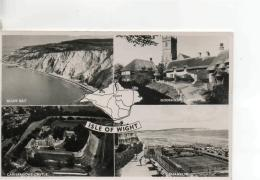 Postcard - Isle - Of - Wight, 4 Views - Posted 26th Aug 1954  Very Good - Postcards