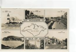 Postcard - Map Of I.O.W With Ills - 6 Views - Posted 3rd Sep 1956  Very Good - Postcards