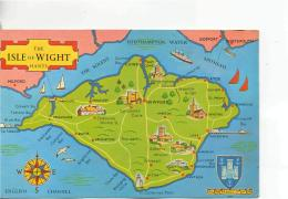 Postcard - Map - The Isle Of Wight Hants - Unused NeverPosted Very Good - Postcards
