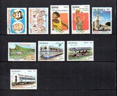 Nicaragua  1983  .-  Y&T Nº  1013/1014-1015/1016-1019-1020-1022/1024     Aéreos - Nicaragua