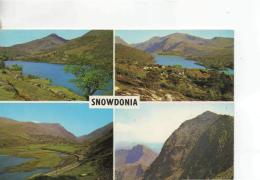 Postcard - Snowdonia Four Views - Posted  4th Sept 1974 Very Good - Postcards