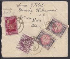 POLOGNE - 1925 - Afranchissement 1000 Mk. Sur Enveloppe Recommandée De Lviv Pour Brunn - B/TB - - 1919-1939 République
