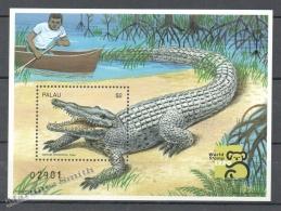 Palau 1999 Yvert BF 76, Sea Crocodile - Single Miniature Sheet - MNH - Palau