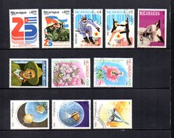 Nicaragua  1984  .-  Y&T Nº  1048/1049-1050/1051-1053-1055-1056/1057-1059/1061     Aéreos - Nicaragua