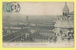 * Paris - Parijs (Dép 75 - Capital De La France) * (ND Phot, Nr 1218) Vue Prise Du Sommet Des Tours Notre Dame, Timbre - Francia