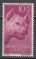 Spanish Sahara 1957. Scott #B43 (M) Animal, Stripped Hyena * - Sahara Espagnol